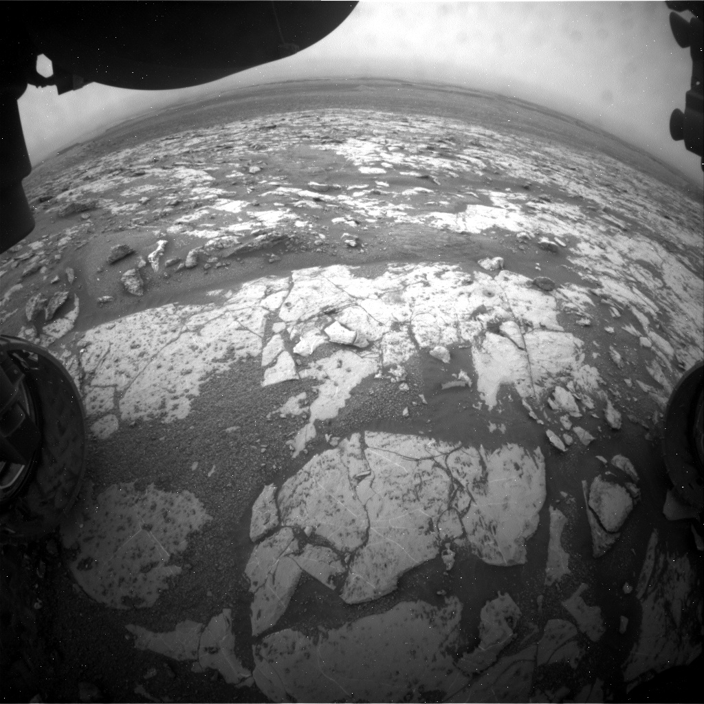Nasa's Mars rover Curiosity acquired this image using its Front Hazard Avoidance Camera (Front Hazcam) on Sol 2150, at drive 1316, site number 72