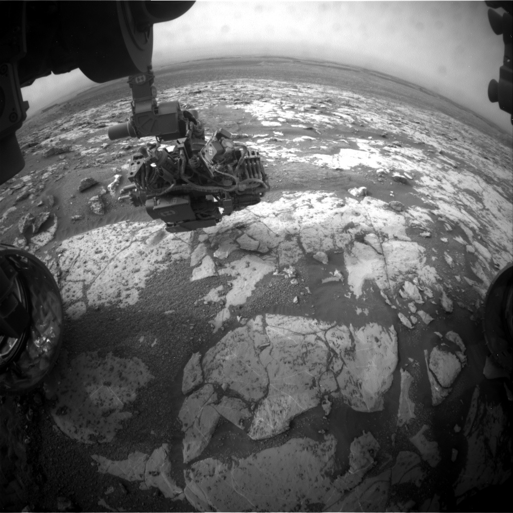 Nasa's Mars rover Curiosity acquired this image using its Front Hazard Avoidance Camera (Front Hazcam) on Sol 2152, at drive 1316, site number 72