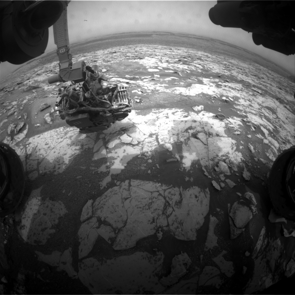 NASA's Mars rover Curiosity acquired this image using its Front Hazard Avoidance Cameras (Front Hazcams) on Sol 2153