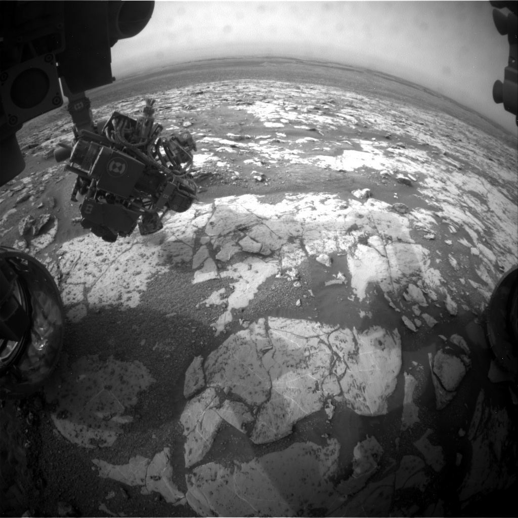 Nasa's Mars rover Curiosity acquired this image using its Front Hazard Avoidance Camera (Front Hazcam) on Sol 2154, at drive 1316, site number 72