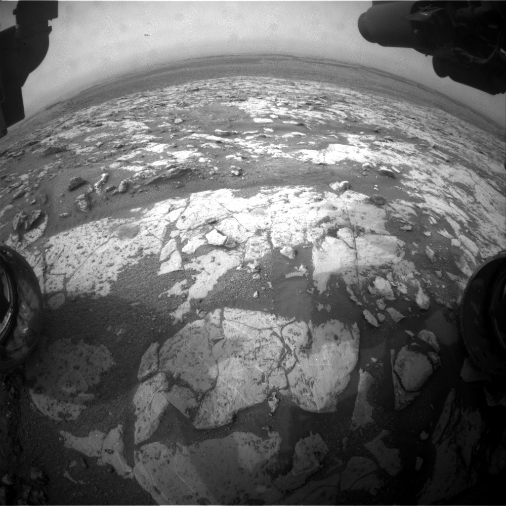 Nasa's Mars rover Curiosity acquired this image using its Front Hazard Avoidance Camera (Front Hazcam) on Sol 2155, at drive 1316, site number 72