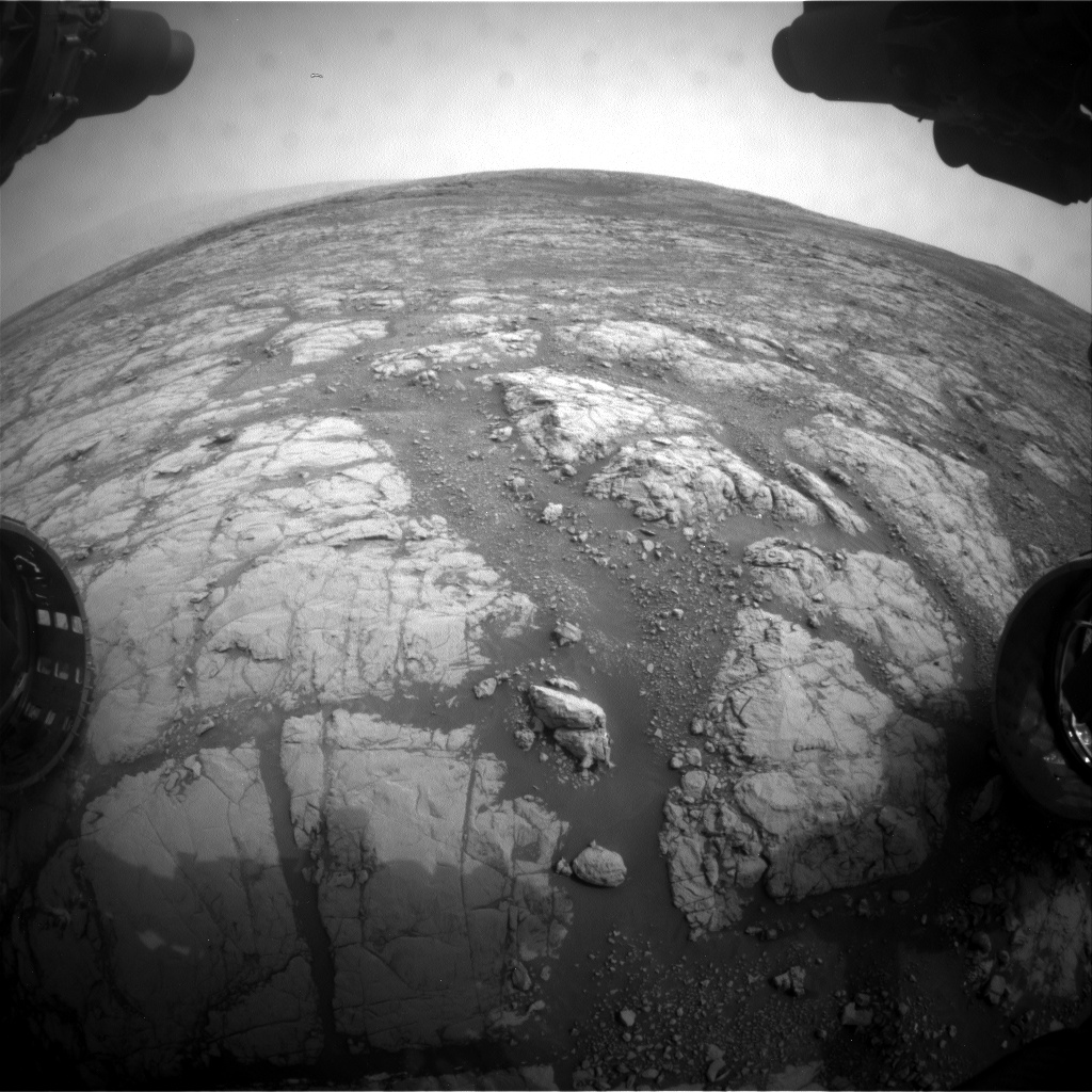 Nasa's Mars rover Curiosity acquired this image using its Front Hazard Avoidance Camera (Front Hazcam) on Sol 2156, at drive 1616, site number 72