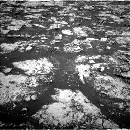 Nasa's Mars rover Curiosity acquired this image using its Left Navigation Camera on Sol 2156, at drive 1358, site number 72