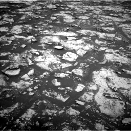 Nasa's Mars rover Curiosity acquired this image using its Left Navigation Camera on Sol 2156, at drive 1376, site number 72