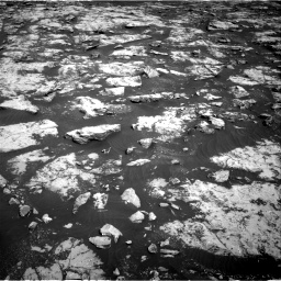 Nasa's Mars rover Curiosity acquired this image using its Right Navigation Camera on Sol 2156, at drive 1328, site number 72