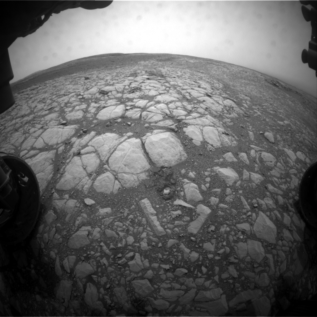 Nasa's Mars rover Curiosity acquired this image using its Front Hazard Avoidance Camera (Front Hazcam) on Sol 2157, at drive 1980, site number 72