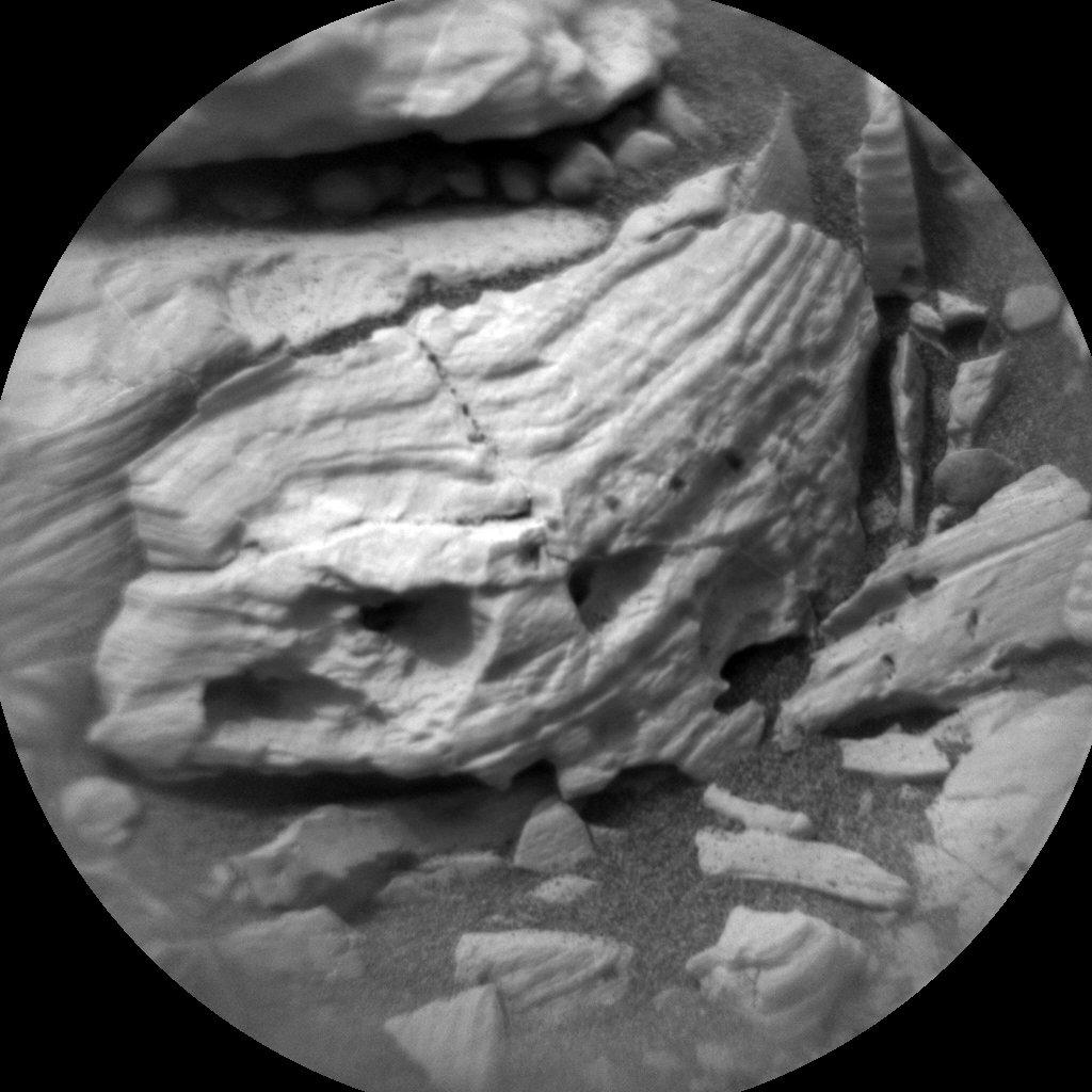 Nasa's Mars rover Curiosity acquired this image using its Chemistry & Camera (ChemCam) on Sol 2157, at drive 1616, site number 72