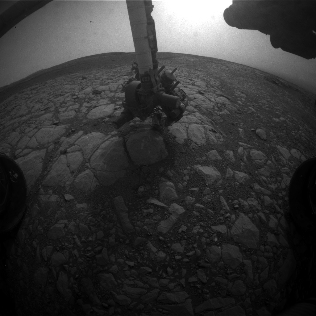 Nasa's Mars rover Curiosity acquired this image using its Front Hazard Avoidance Camera (Front Hazcam) on Sol 2160, at drive 1980, site number 72
