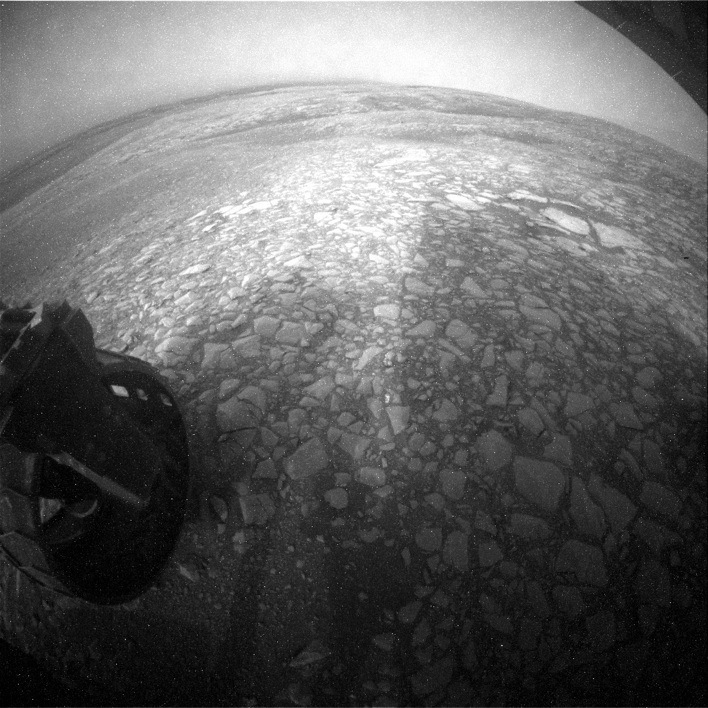 NASA's Mars rover Curiosity acquired this image using its Rear Hazard Avoidance Cameras (Rear Hazcams) on Sol 2160