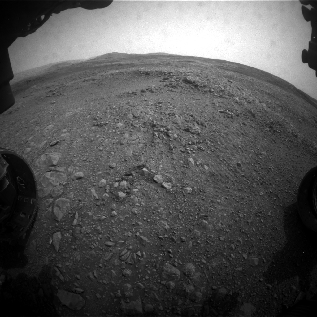 Nasa's Mars rover Curiosity acquired this image using its Front Hazard Avoidance Camera (Front Hazcam) on Sol 2161, at drive 2272, site number 72