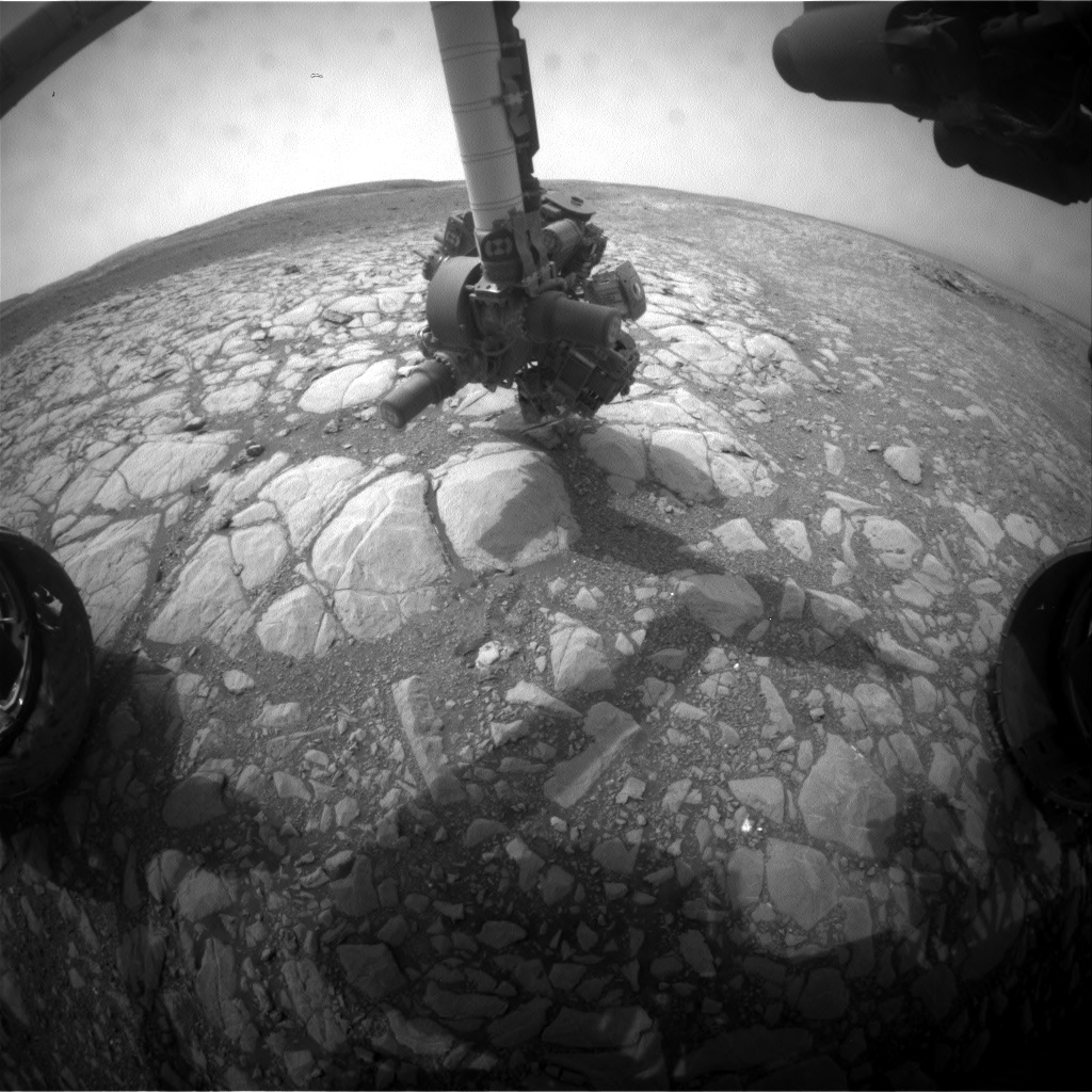 Nasa's Mars rover Curiosity acquired this image using its Front Hazard Avoidance Camera (Front Hazcam) on Sol 2161, at drive 1980, site number 72