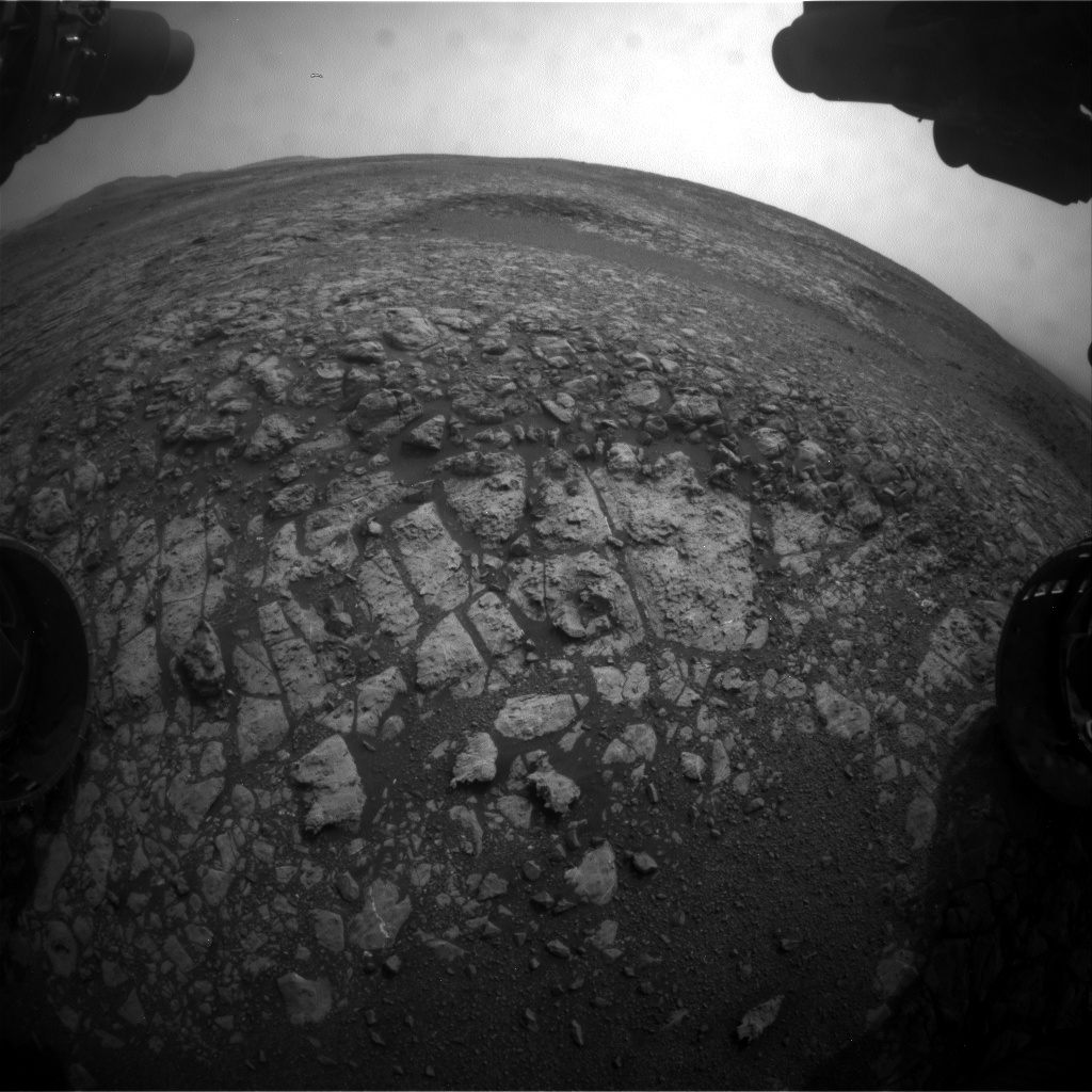 Nasa's Mars rover Curiosity acquired this image using its Front Hazard Avoidance Camera (Front Hazcam) on Sol 2163, at drive 2410, site number 72