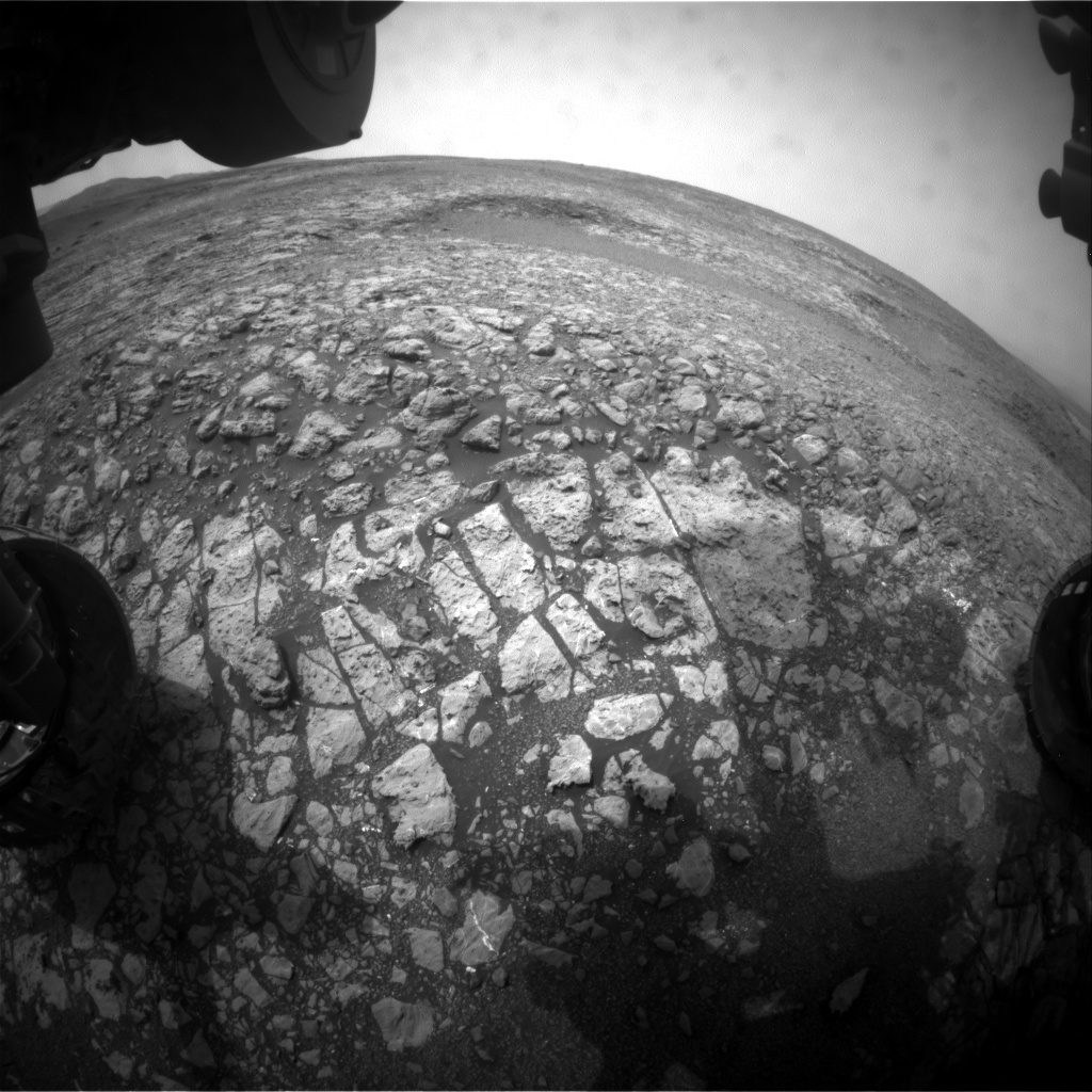 Nasa's Mars rover Curiosity acquired this image using its Front Hazard Avoidance Camera (Front Hazcam) on Sol 2164, at drive 2410, site number 72