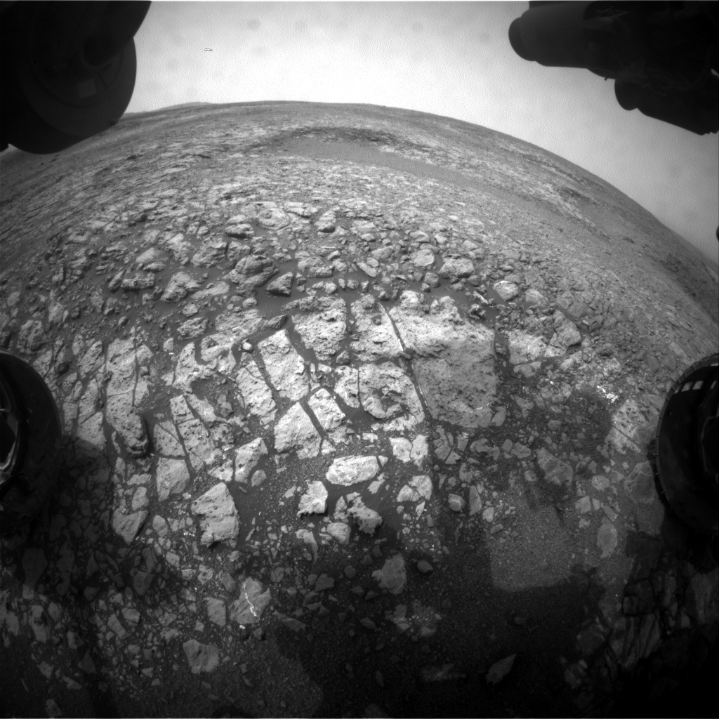 NASA's Mars rover Curiosity acquired this image using its Front Hazard Avoidance Cameras (Front Hazcams) on Sol 2164