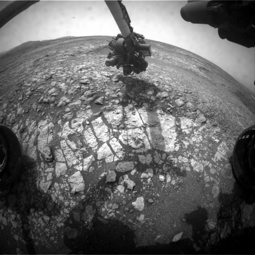 Nasa's Mars rover Curiosity acquired this image using its Front Hazard Avoidance Camera (Front Hazcam) on Sol 2166, at drive 2410, site number 72