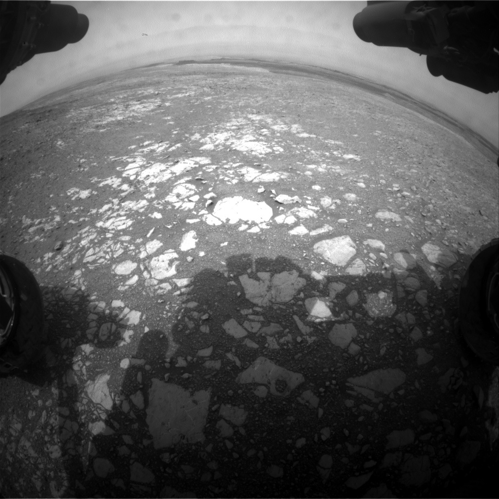 NASA's Mars rover Curiosity acquired this image using its Front Hazard Avoidance Cameras (Front Hazcams) on Sol 2166