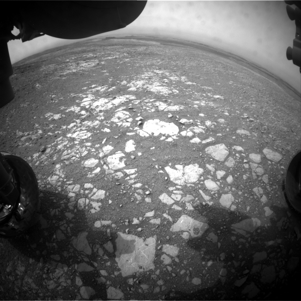 Nasa's Mars rover Curiosity acquired this image using its Front Hazard Avoidance Camera (Front Hazcam) on Sol 2169, at drive 2464, site number 72
