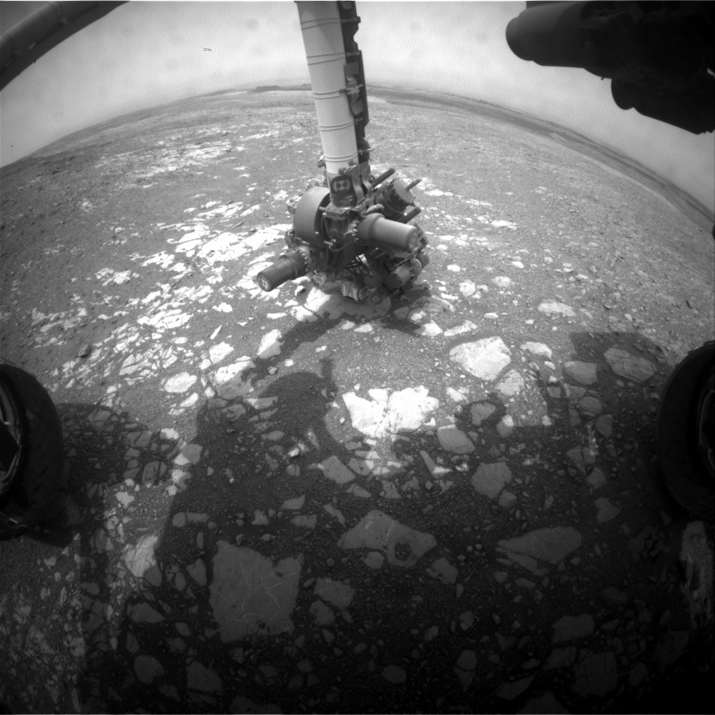 NASA's Mars rover Curiosity acquired this image using its Front Hazard Avoidance Cameras (Front Hazcams) on Sol 2169