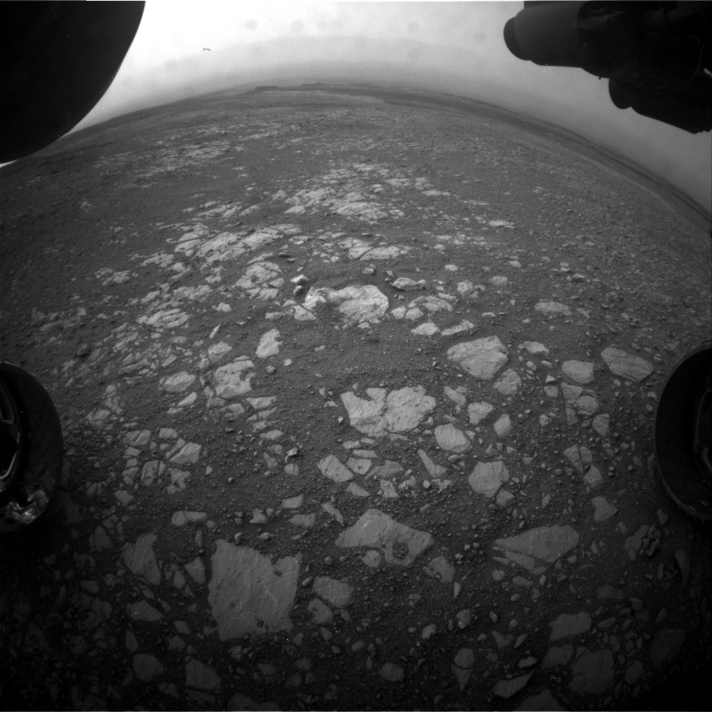 Nasa's Mars rover Curiosity acquired this image using its Front Hazard Avoidance Camera (Front Hazcam) on Sol 2170, at drive 2464, site number 72