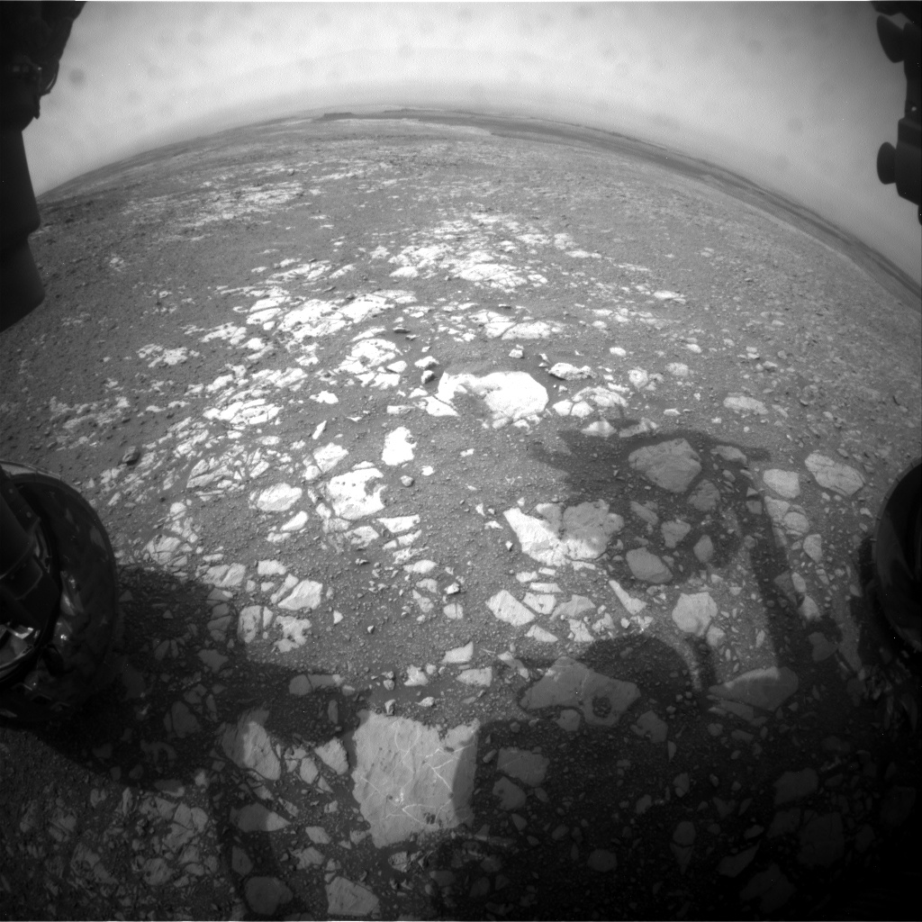Nasa's Mars rover Curiosity acquired this image using its Front Hazard Avoidance Camera (Front Hazcam) on Sol 2172, at drive 2464, site number 72