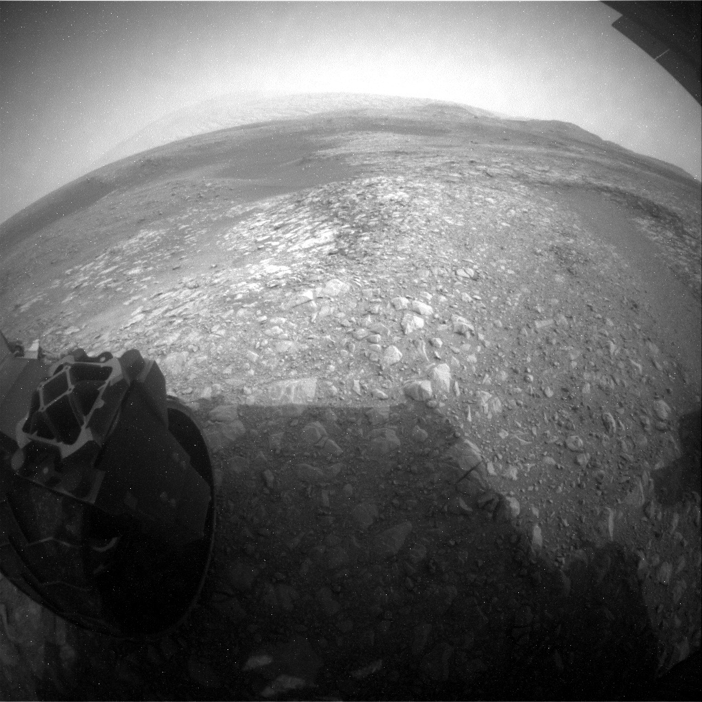 NASA's Mars rover Curiosity acquired this image using its Rear Hazard Avoidance Cameras (Rear Hazcams) on Sol 2172