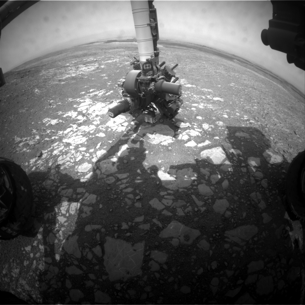 NASA's Mars rover Curiosity acquired this image using its Front Hazard Avoidance Cameras (Front Hazcams) on Sol 2199
