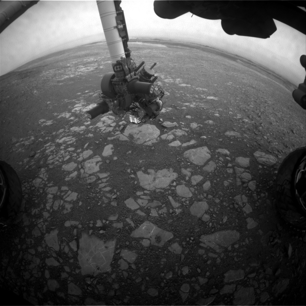NASA's Mars rover Curiosity acquired this image using its Front Hazard Avoidance Cameras (Front Hazcams) on Sol 2210