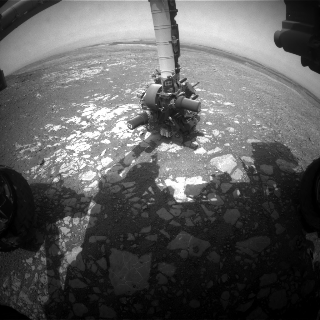 NASA's Mars rover Curiosity acquired this image using its Front Hazard Avoidance Cameras (Front Hazcams) on Sol 2218