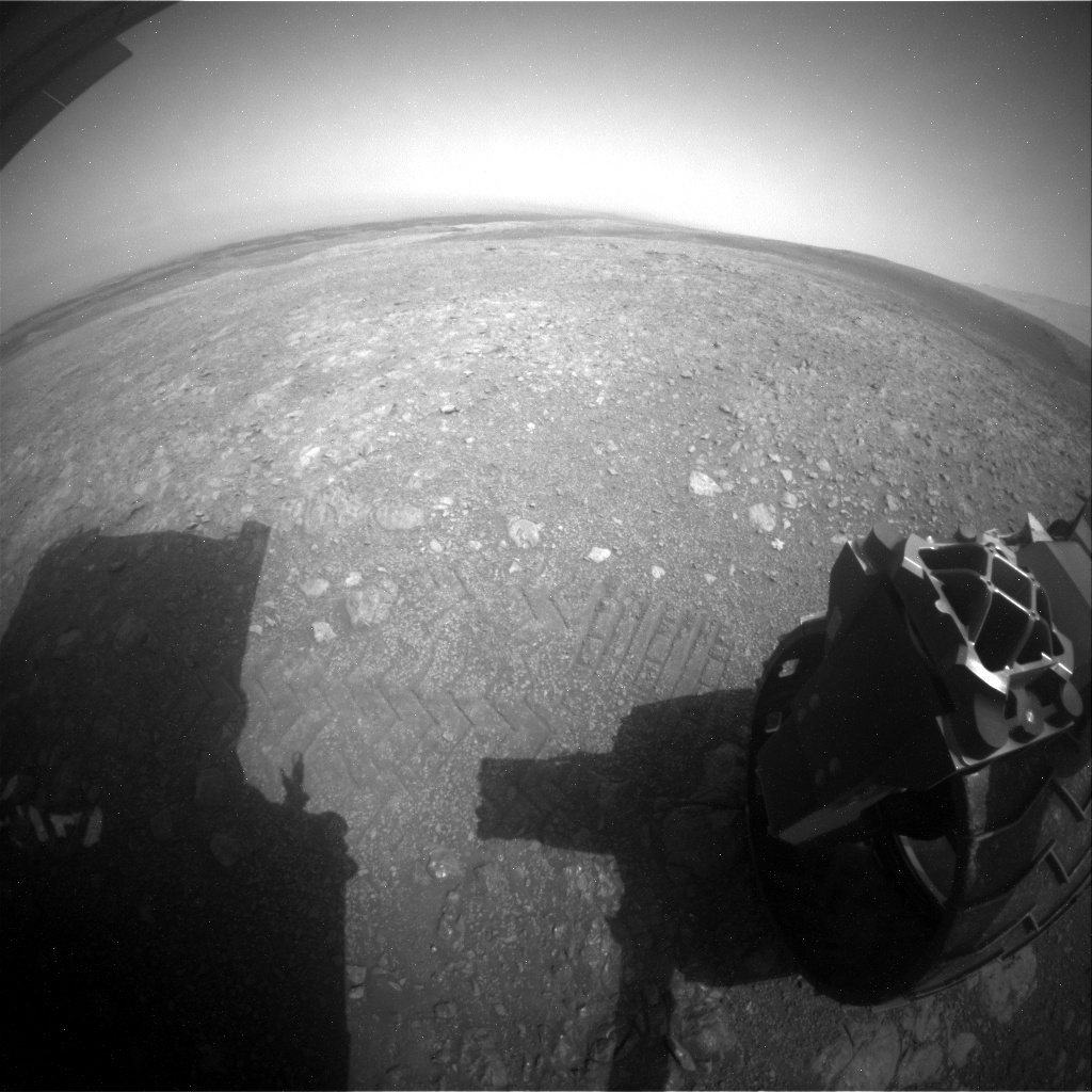 NASA's Mars rover Curiosity acquired this image using its Rear Hazard Avoidance Cameras (Rear Hazcams) on Sol 2219