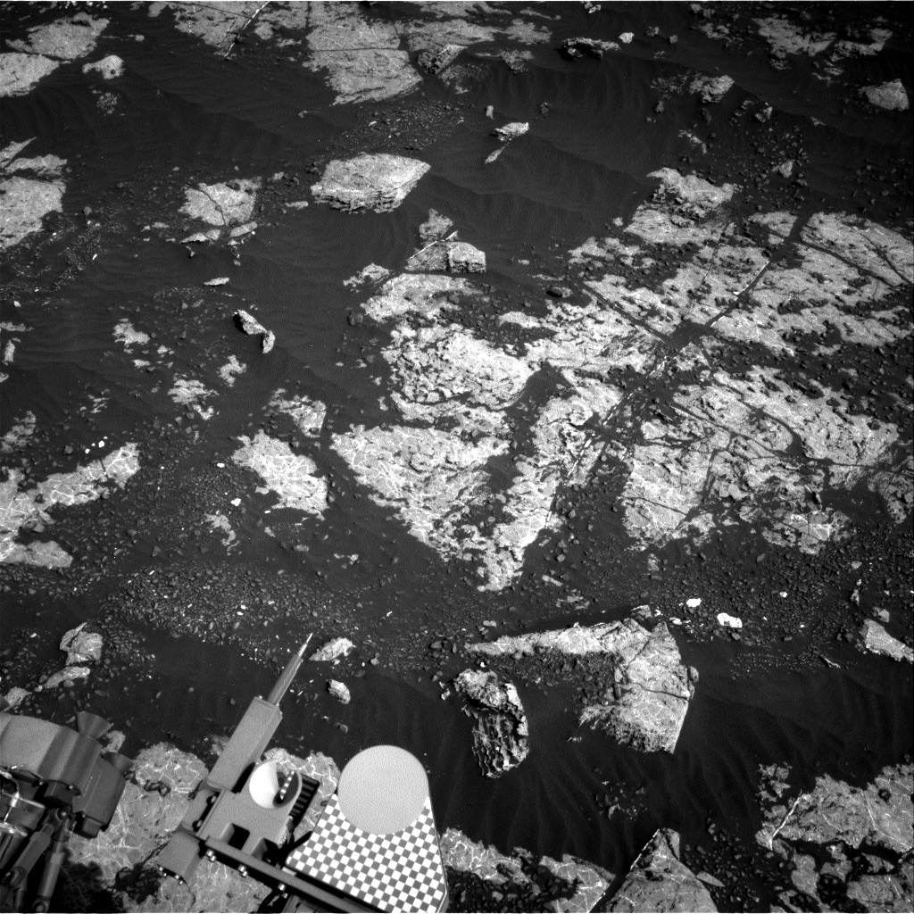 NASA's Mars rover Curiosity acquired this image using its Right Navigation Cameras (Navcams) on Sol 2222