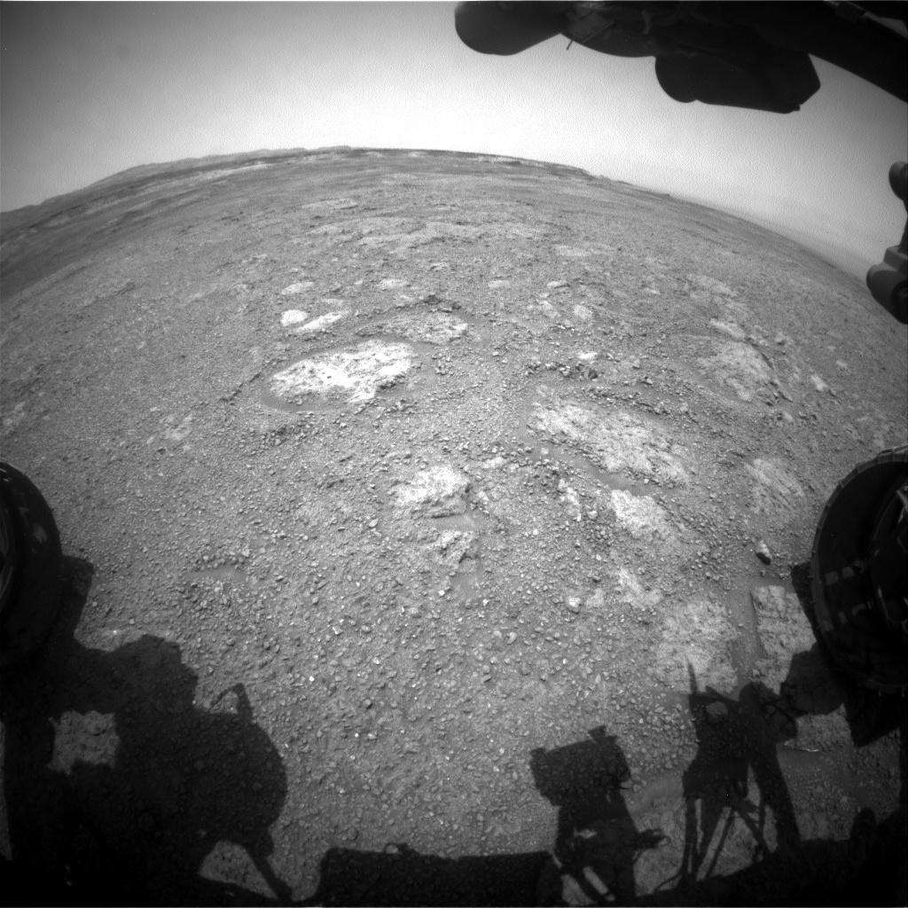 NASA's Mars rover Curiosity acquired this image using its Front Hazard Avoidance Cameras (Front Hazcams) on Sol 2282