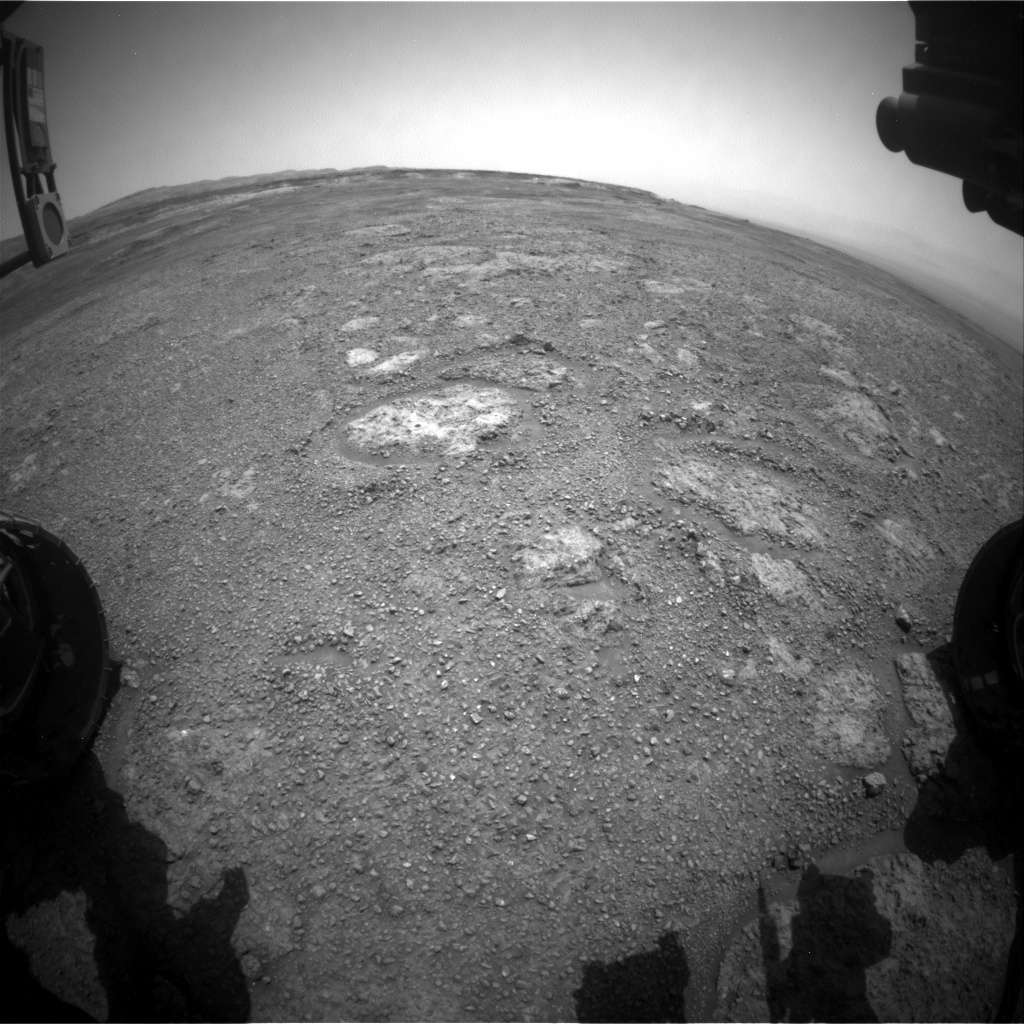 NASA's Mars rover Curiosity acquired this image using its Front Hazard Avoidance Cameras (Front Hazcams) on Sol 2284