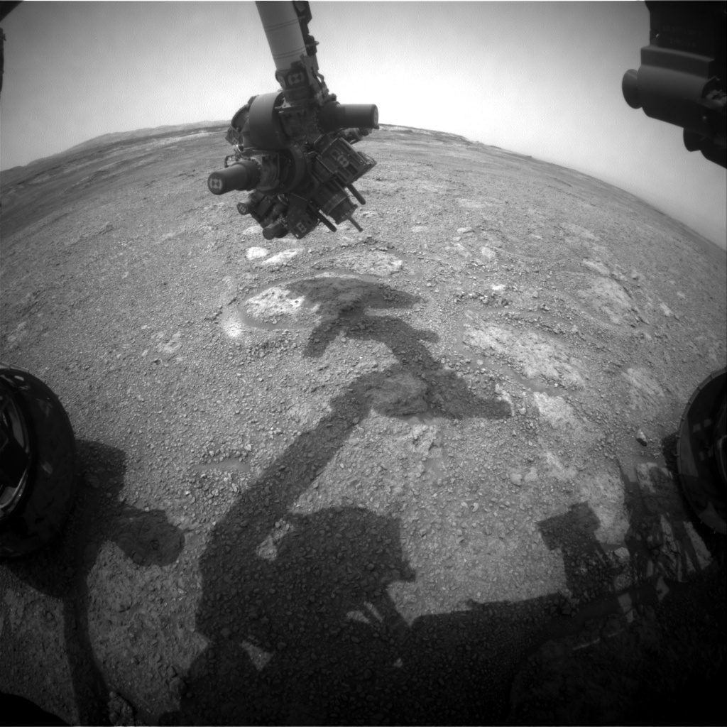 NASA's Mars rover Curiosity acquired this image using its Front Hazard Avoidance Cameras (Front Hazcams) on Sol 2293