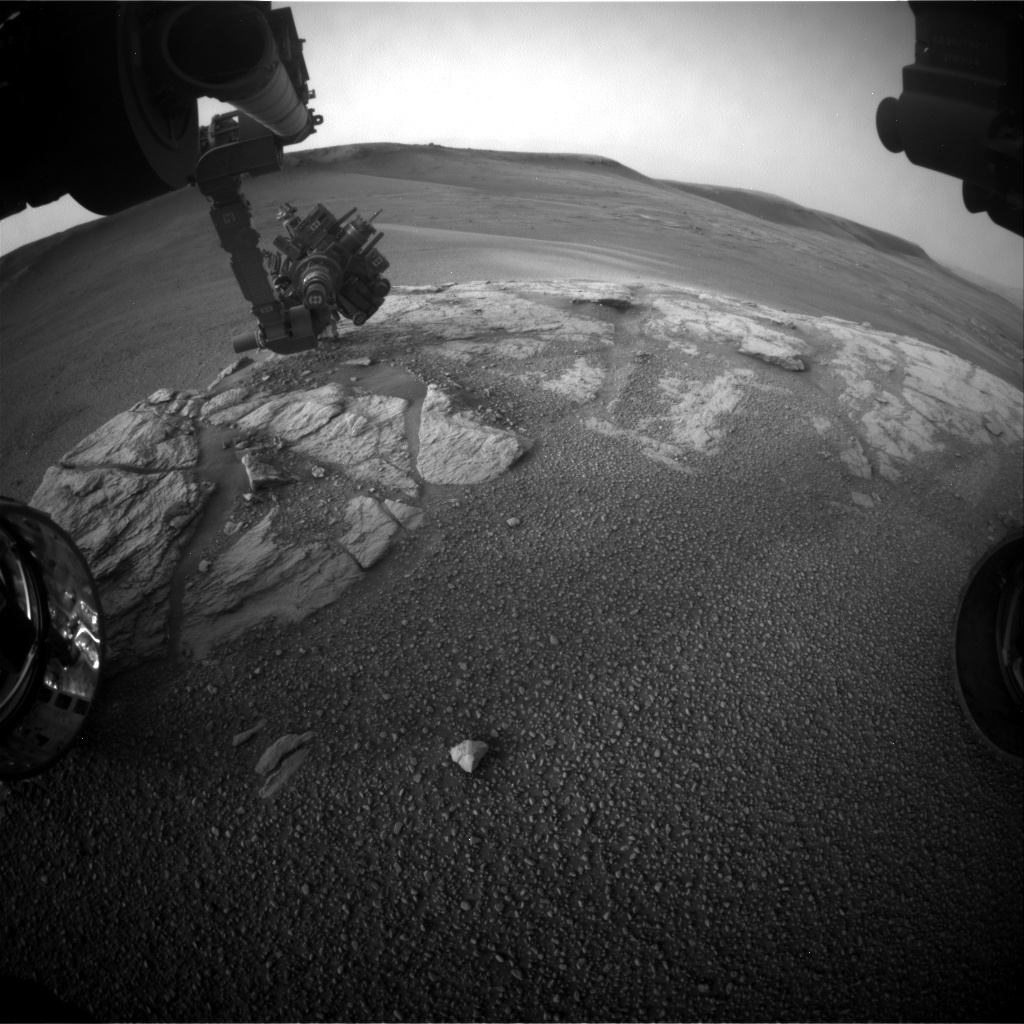 NASA's Mars rover Curiosity acquired this image using its Front Hazard Avoidance Cameras (Front Hazcams) on Sol 2318