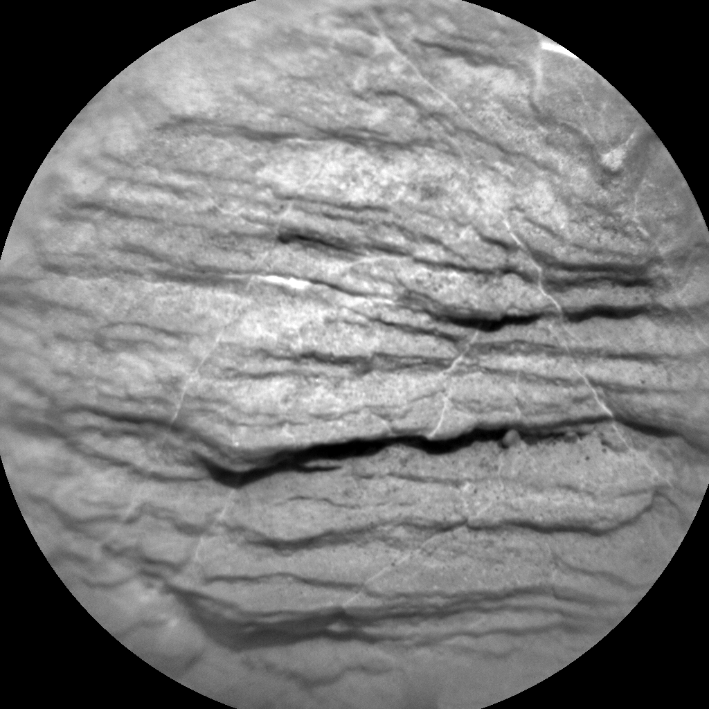 Nasa's Mars rover Curiosity acquired this image using its Chemistry & Camera (ChemCam) on Sol 2320, at drive 210, site number 74