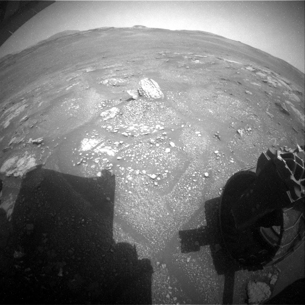 Sol 2340: And objects in the rear-view mirror may appear… interesting!