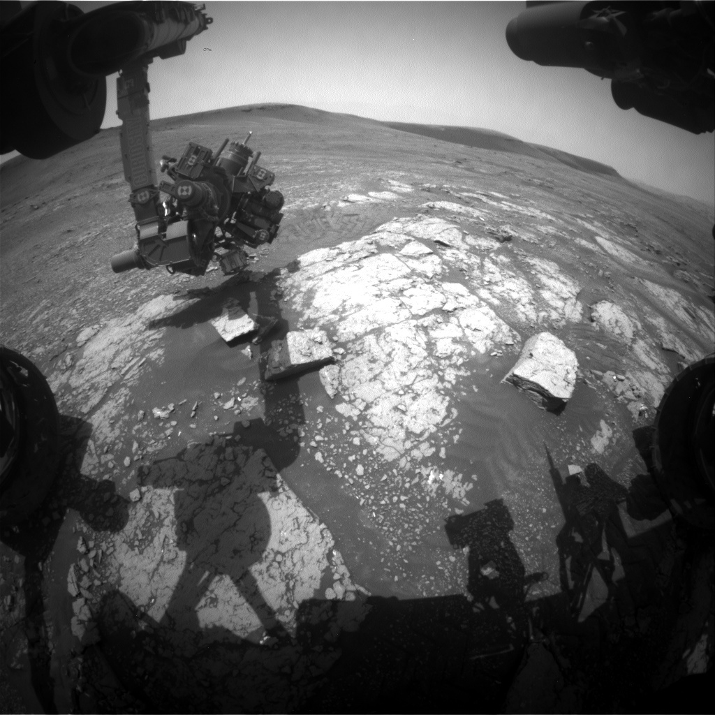 NASA's Mars rover Curiosity acquired this image using its Front Hazard Avoidance Cameras (Front Hazcams) on Sol 2346