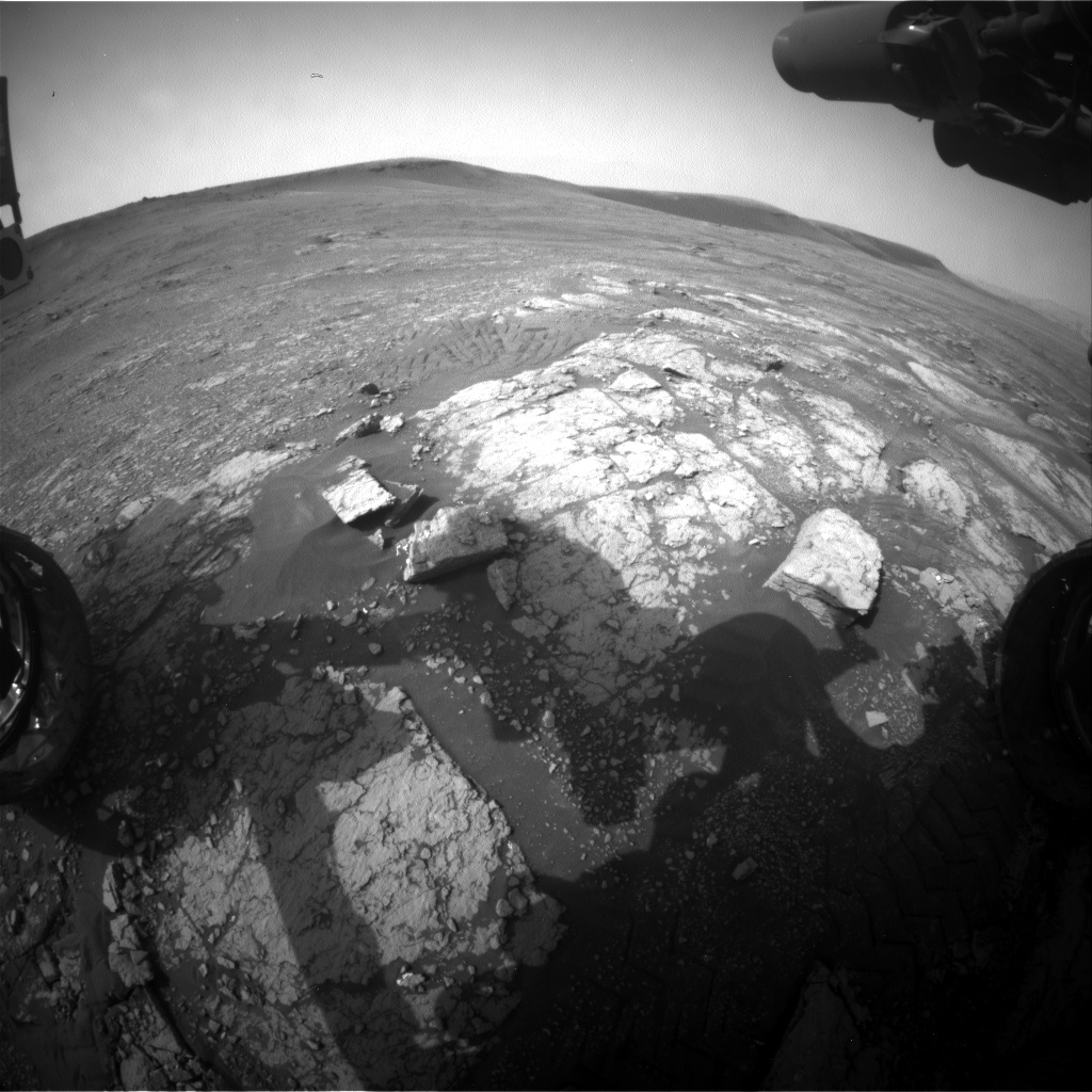 Nasa's Mars rover Curiosity acquired this image using its Front Hazard Avoidance Camera (Front Hazcam) on Sol 2347, at drive 0, site number 75