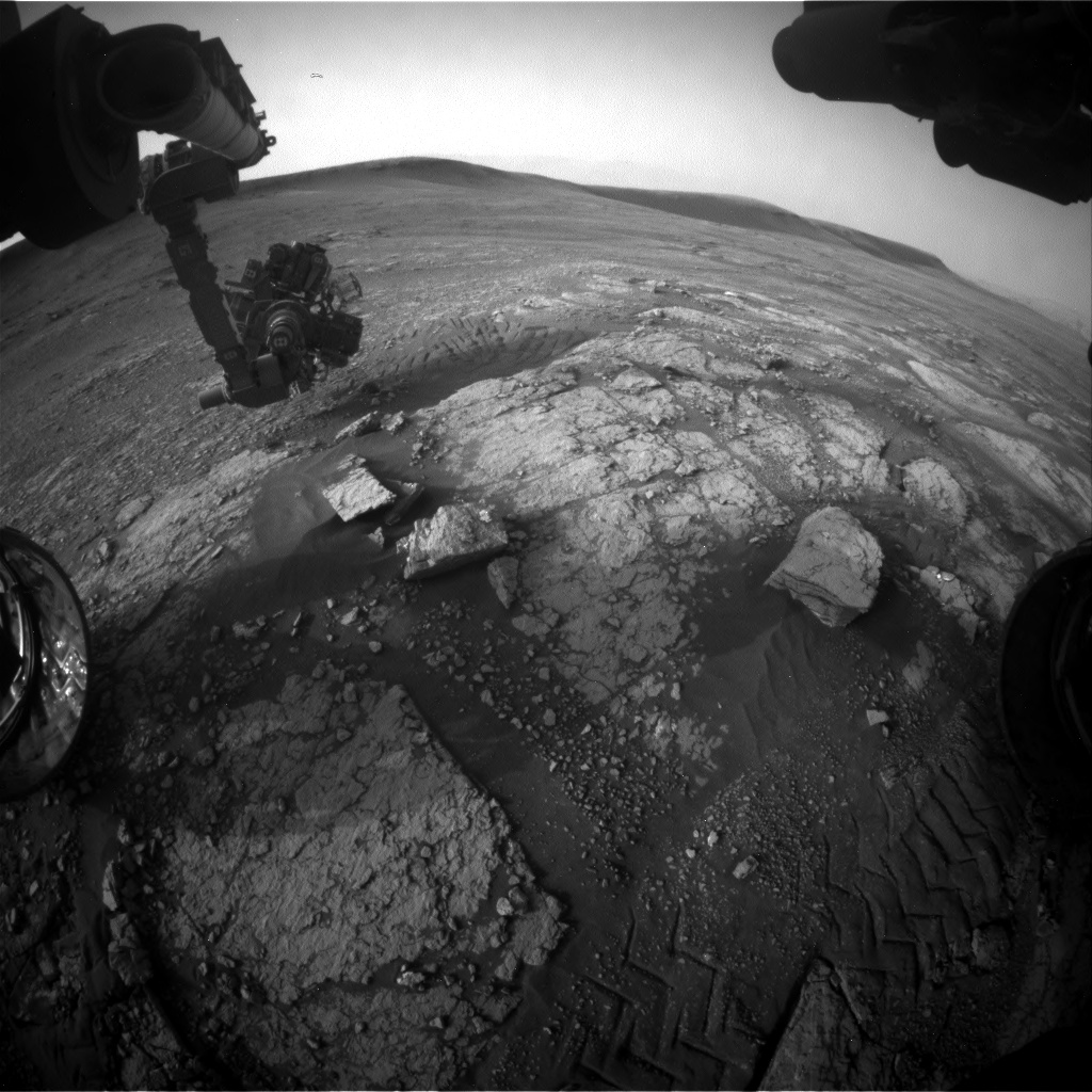 Nasa's Mars rover Curiosity acquired this image using its Front Hazard Avoidance Camera (Front Hazcam) on Sol 2349, at drive 0, site number 75