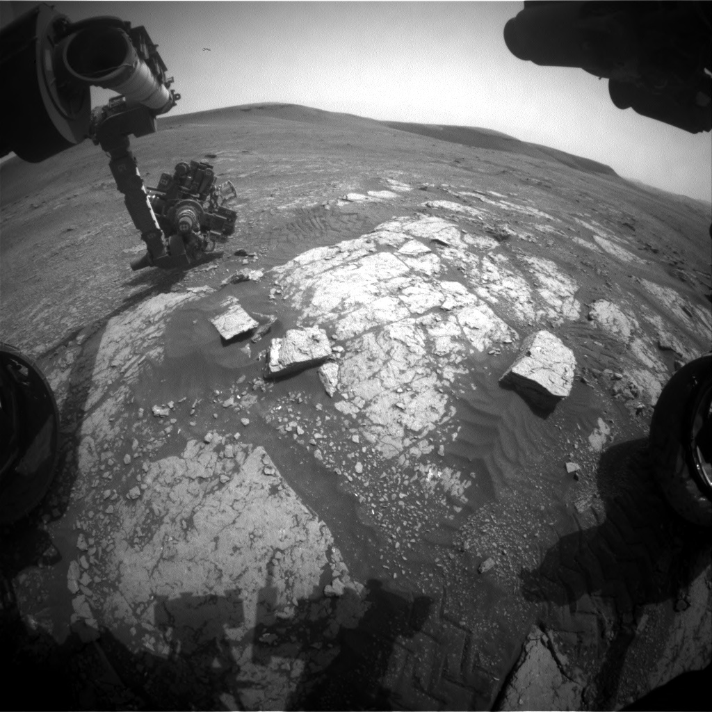 Nasa's Mars rover Curiosity acquired this image using its Front Hazard Avoidance Camera (Front Hazcam) on Sol 2350, at drive 0, site number 75