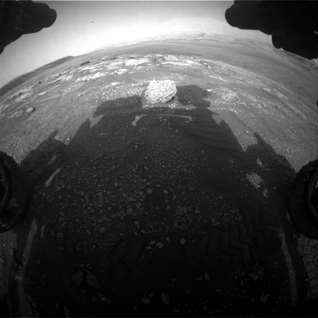 Nasa's Mars rover Curiosity acquired this image using its Front Hazard Avoidance Camera (Front Hazcam) on Sol 2350, at drive 60, site number 75