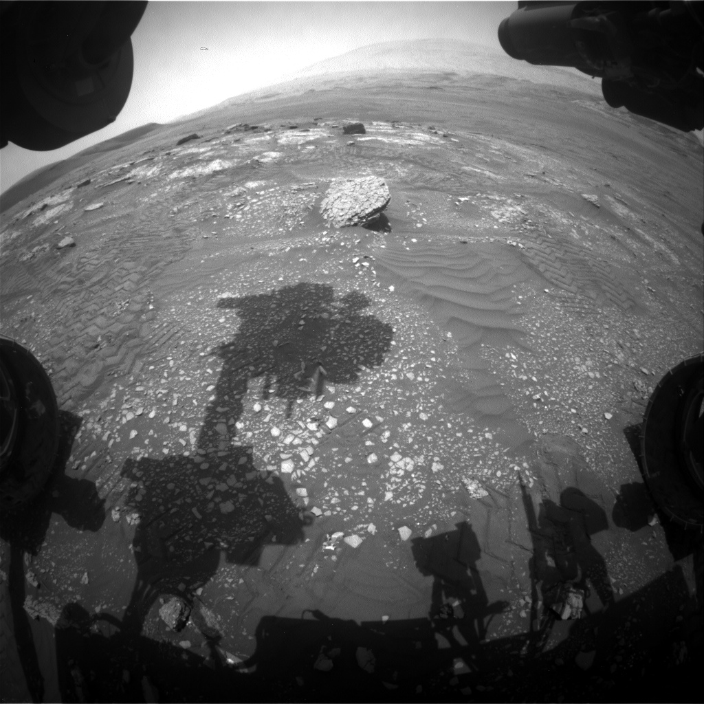 Nasa's Mars rover Curiosity acquired this image using its Front Hazard Avoidance Camera (Front Hazcam) on Sol 2351, at drive 60, site number 75