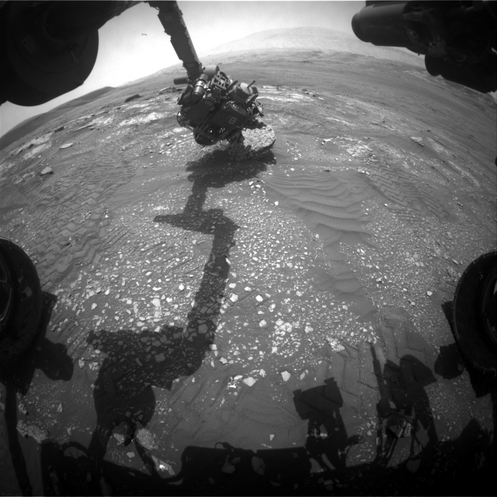 Nasa's Mars rover Curiosity acquired this image using its Front Hazard Avoidance Camera (Front Hazcam) on Sol 2352, at drive 60, site number 75