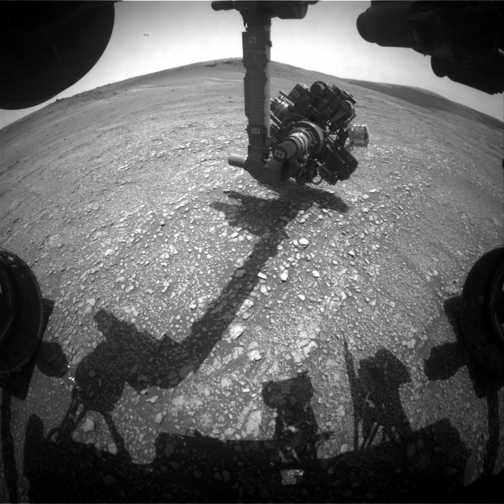 Nasa's Mars rover Curiosity acquired this image using its Front Hazard Avoidance Camera (Front Hazcam) on Sol 2354, at drive 264, site number 75