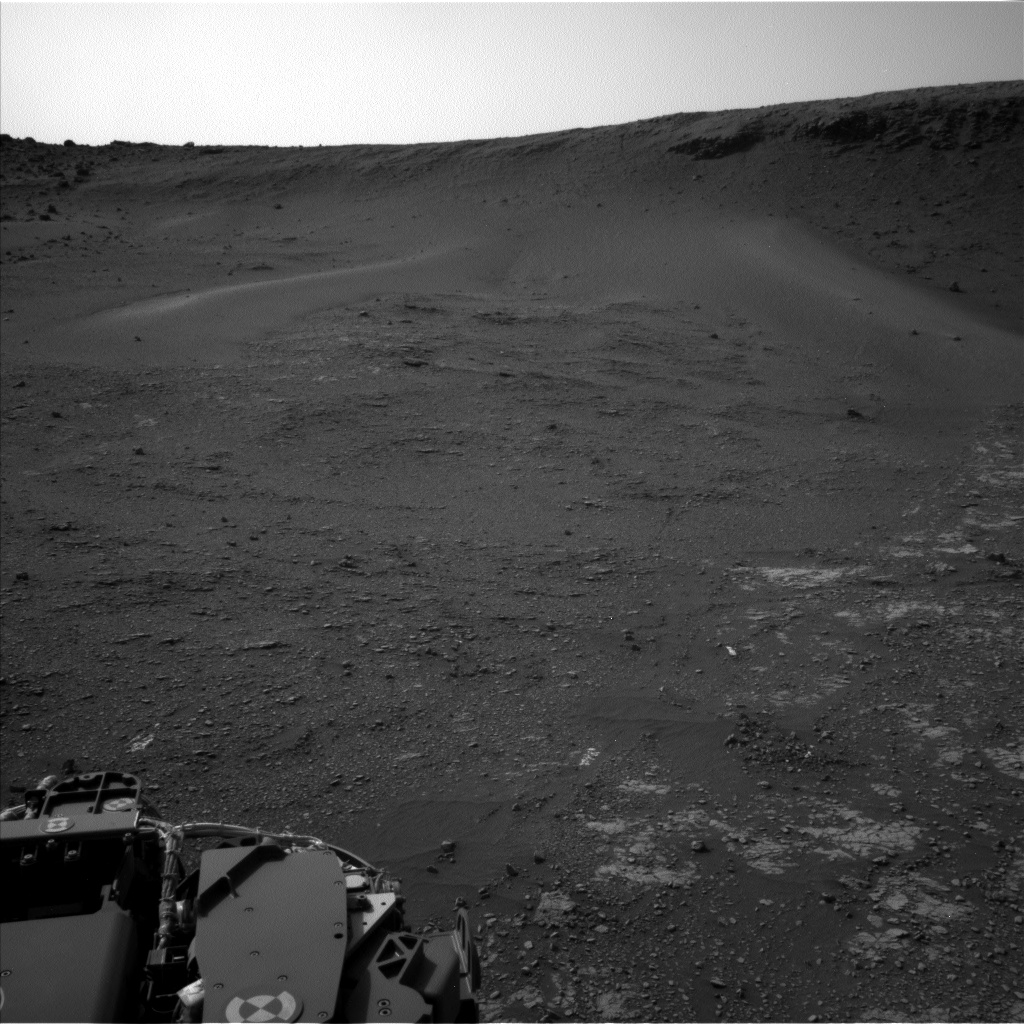 Nasa's Mars rover Curiosity acquired this image using its Left Navigation Camera on Sol 2354, at drive 456, site number 75