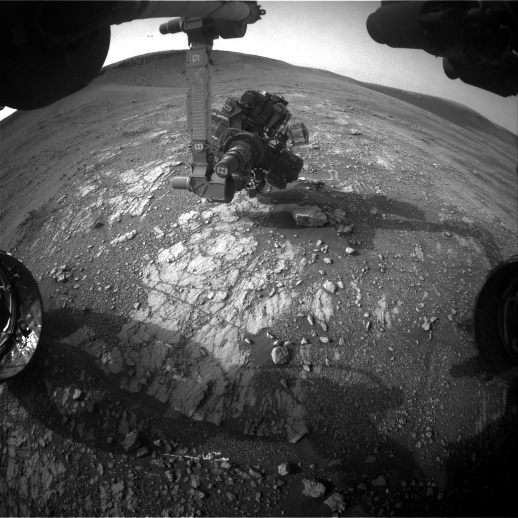 Nasa's Mars rover Curiosity acquired this image using its Front Hazard Avoidance Camera (Front Hazcam) on Sol 2356, at drive 456, site number 75