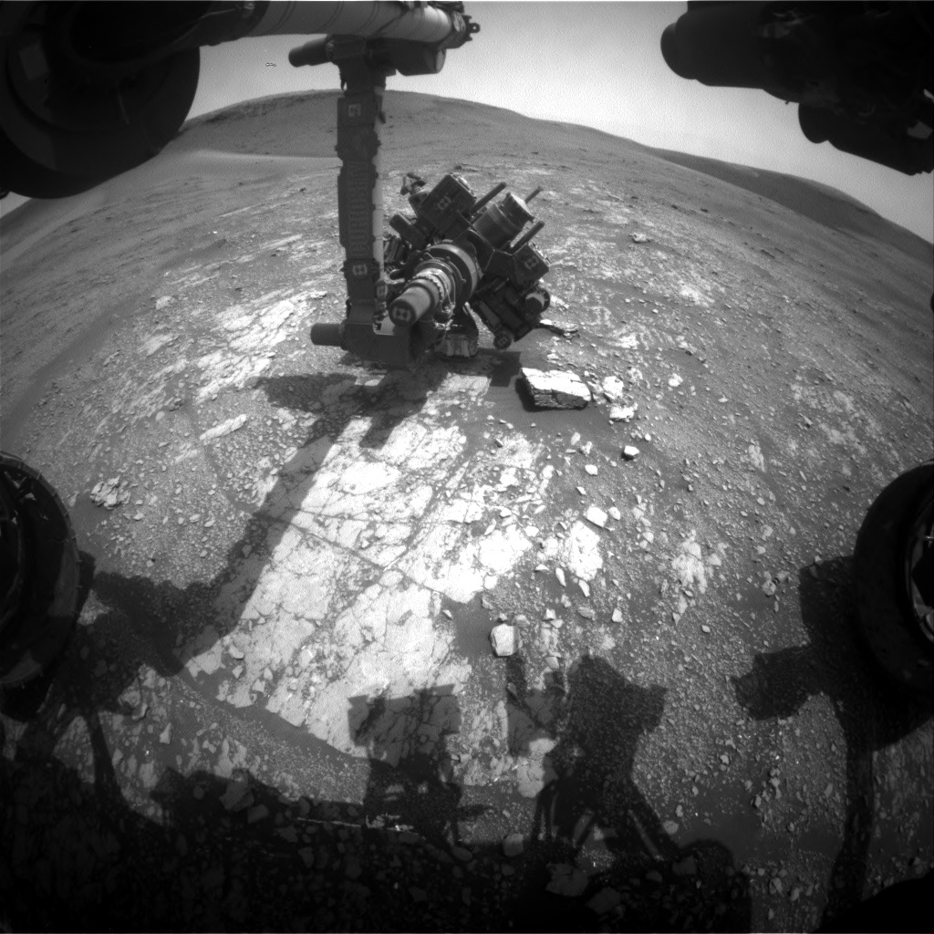 Nasa's Mars rover Curiosity acquired this image using its Front Hazard Avoidance Camera (Front Hazcam) on Sol 2357, at drive 456, site number 75