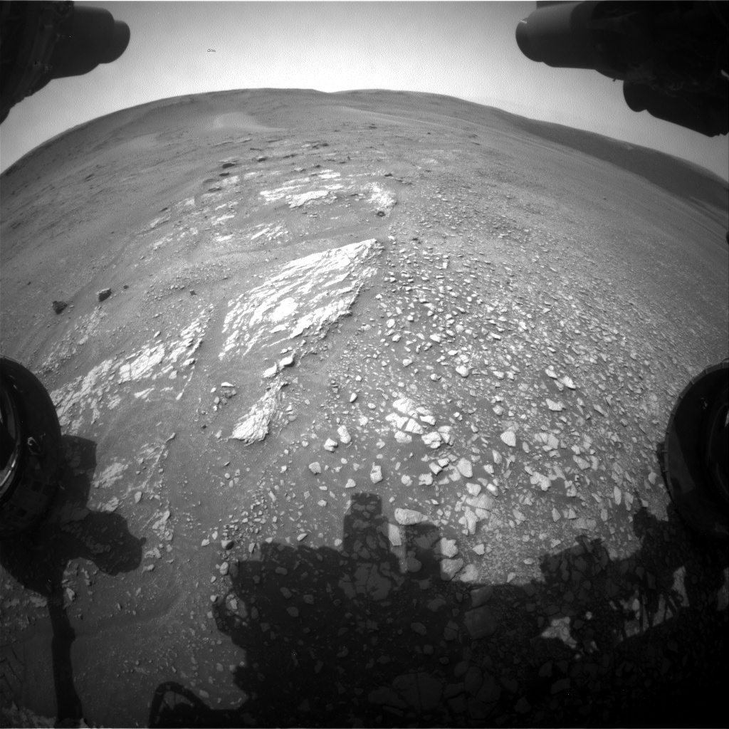 Nasa's Mars rover Curiosity acquired this image using its Front Hazard Avoidance Camera (Front Hazcam) on Sol 2357, at drive 750, site number 75