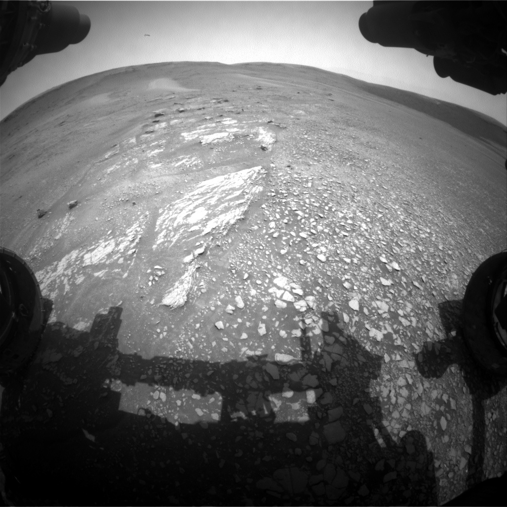Nasa's Mars rover Curiosity acquired this image using its Front Hazard Avoidance Camera (Front Hazcam) on Sol 2358, at drive 750, site number 75
