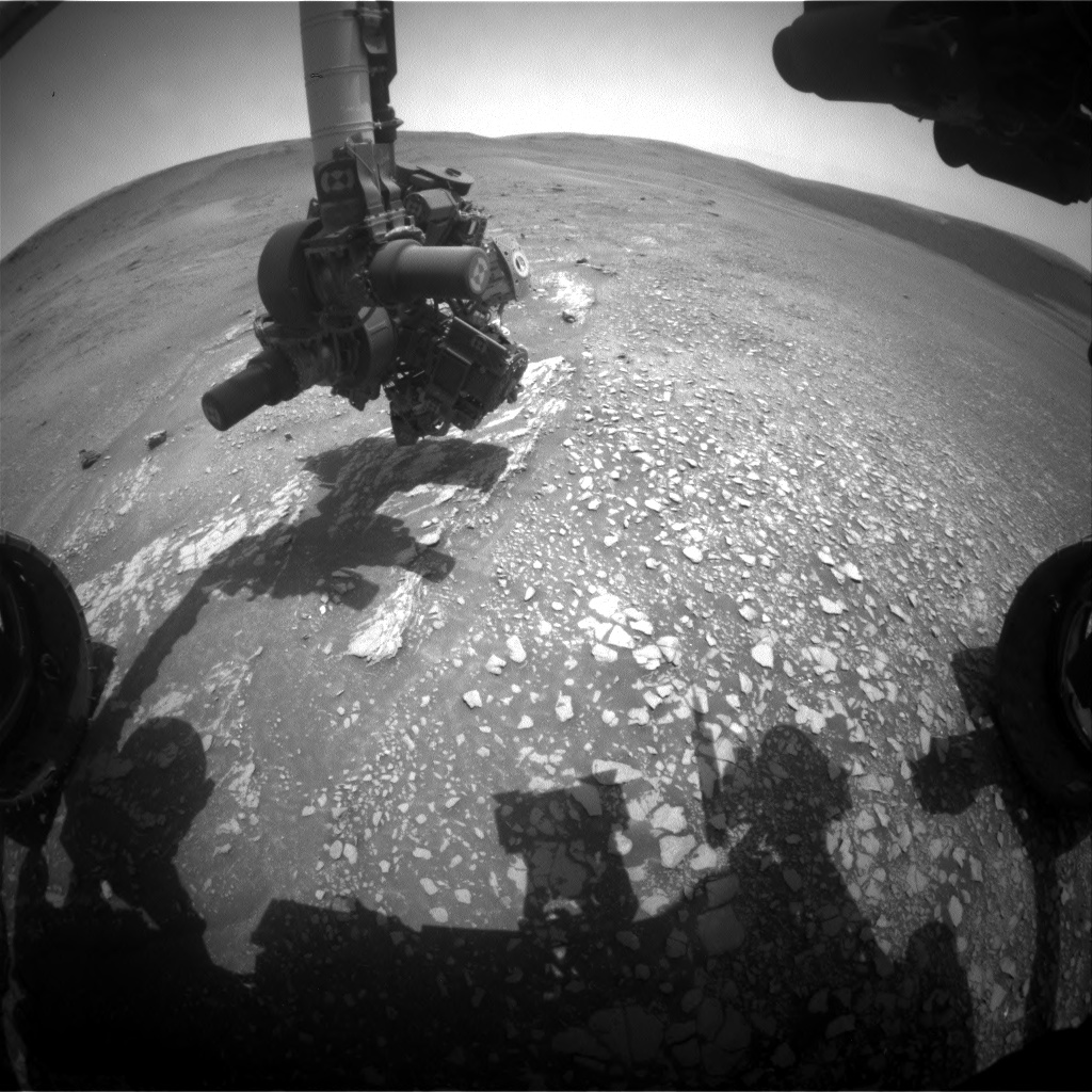 Nasa's Mars rover Curiosity acquired this image using its Front Hazard Avoidance Camera (Front Hazcam) on Sol 2359, at drive 750, site number 75